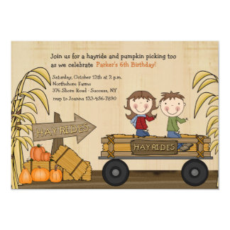 Fall Hayride Party Invitation