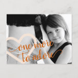Fall Heart | Burnt Orange One More to Adore Photo Announcement Postcard