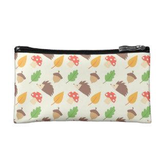 Fall Hedgehog Pattern Makeup Bag