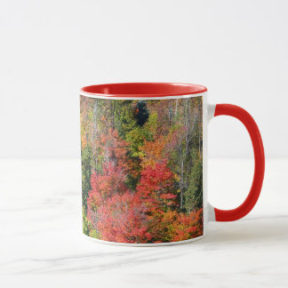 Fall Hillside Colorful Autumn Nature Photography Mug