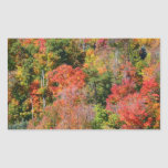 Fall Hillside Colorful Autumn Nature Photography Rectangular Sticker