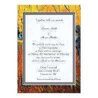 fall,holiday wedding invitation. van Gogh Announcements
