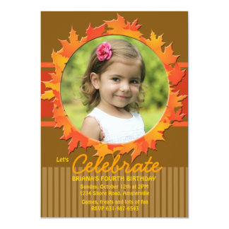 "Fall Hoop Photo Invitation 5"" X 7"" Invitation Card"
