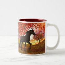 Fall Horse Two-Tone Coffee Mug
