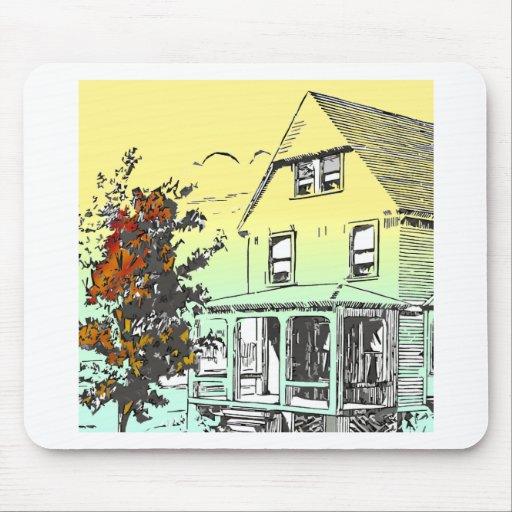 fall house mousepad