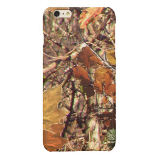 Fall Hunt Camo Background Ready to Customize Glossy iPhone 6 Plus Case