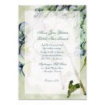 Fall Hydrangea Green and Blue Wedding Invite Custom Invitations
