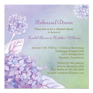Fall Hydrangea Wedding Rehearsal Dinner Card