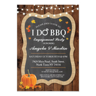 Fall I DO BBQ Engagement Party Couples Invite