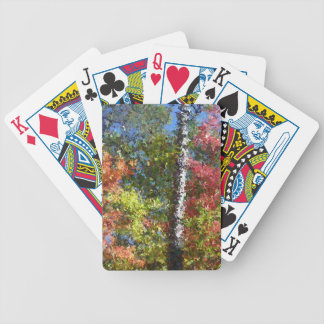 Fall impression artistic image bicycle playing cards