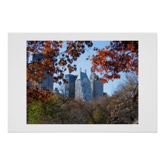 FALL IN CENTRAL PARK NYC photography poster
