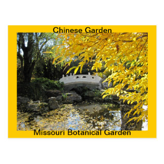 Fall in Chinese Garden Post Cards