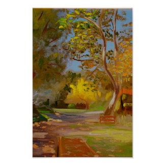 Fall in Descanso Gardens Poster