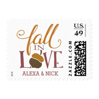 Fall in Love | Autumn Acorn Postage