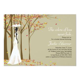 """Fall in Love - Autumn Bridal Shower Invitation 5"""" X 7"""" Invitation Card"""