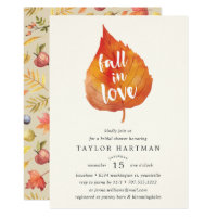 Fall in Love | Autumn Bridal Shower Invitation