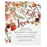 Fall In Love Autumn Harvest Pumpkin Bridal Shower Card at Zazzle