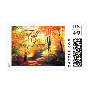 Fall in Love - Autumn Scenery Postage