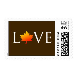 Fall In Love Autumn Wedding Postage Stamp stamp