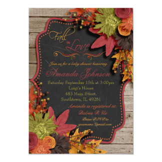 Fall In Love Baby Shower Invitation