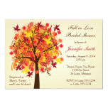 Fall In Love Bridal Shower 5x7 Paper Invitation Card