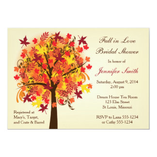 Fall In Love Bridal Shower Card