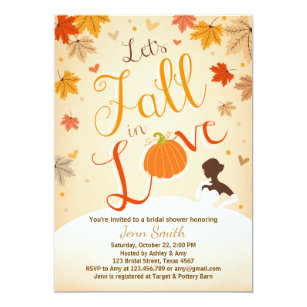 Fall in love bridal shower invitations announcements zazzle fall in love bridal shower invitation autumn filmwisefo Gallery
