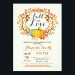 """Fall in Love Bridal Shower Invitation Card<br><div class=""""desc"""">Fall in Love Bridal Shower Invitation Card Pumpkin Floral. For further customization,  please click the &quot;Customize it&quot; button and use our design tool to modify this template.</div>"""