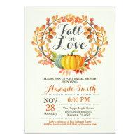 Fall bridal shower invitations announcements zazzle fall in love bridal shower invitation card filmwisefo