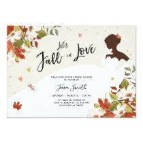 Fall in Love Bridal shower invitation Rustic Dress
