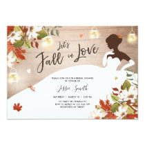 Fall in Love Bridal shower invitation Rustic Jars