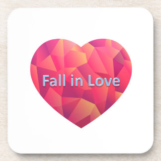 fall in love drink coaster