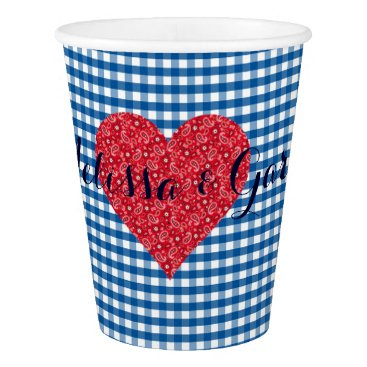 Beach Themed Fall In Love Kitsch Country Wedding Party Cups