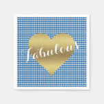 Fall In Love Kitsch Country Wedding Party Napkins