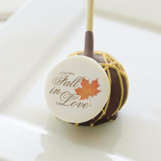 Fall in Love | Orange Leaf Design Cake Pops