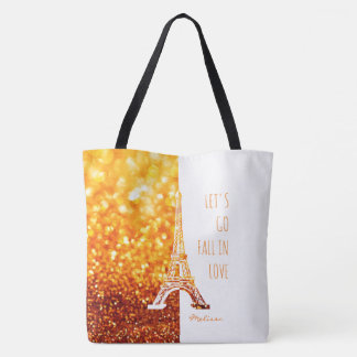 Fall in love Paris | Romantic Eiffel Tower Tote Bag