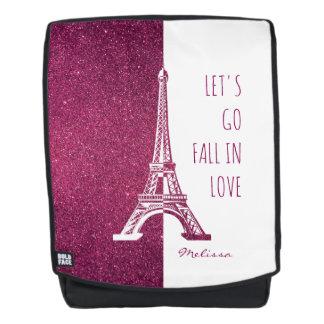 Fall in love Paris | Romantic glitter Eiffel Tower Backpack