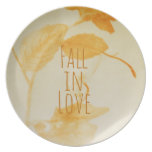 Fall in love party plates