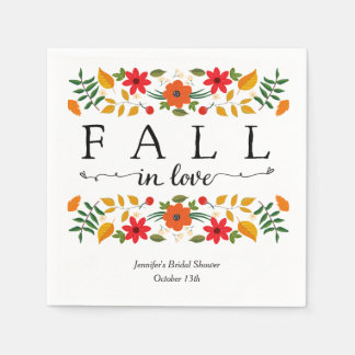 Fall In Love, Personalized Napkin