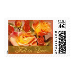 Fall in Love wedding postage stamps