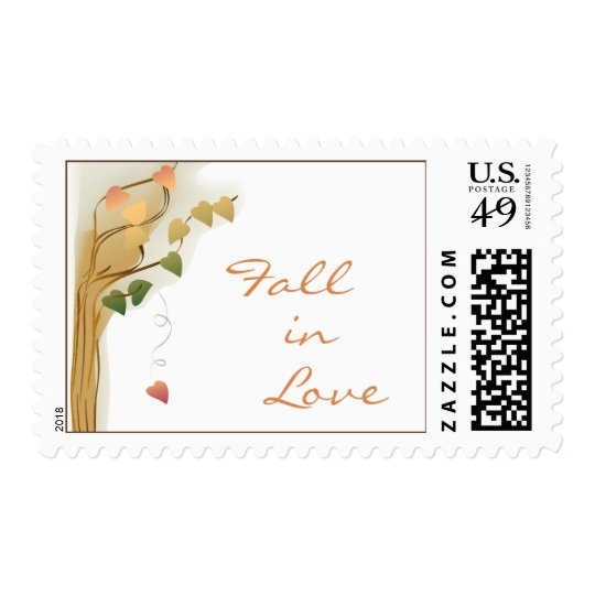 Fall in Love Postage Stamps