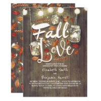 Fall in Love Rustic Engagement Party Invitation