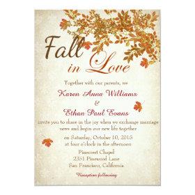 Fall In Love Rustic Wedding Invitation