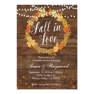 Fall In Love Shower Invitation