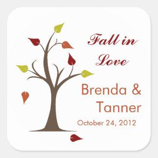 Fall In Love Square Sticker