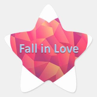 fall in love star sticker