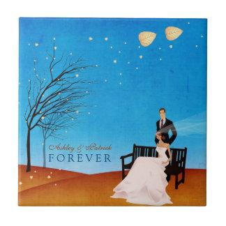 Fall (in Love) Story FOREVER Wedding Gift Tile