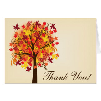 Fall in Love Thank You Stationery Note Card