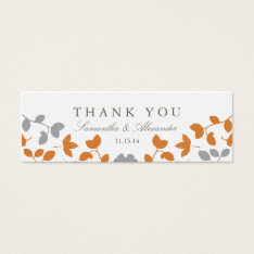 Fall In Love Wedding Favor Tags at Zazzle