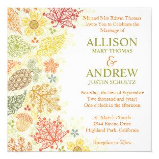 Fall in Love Wedding Invitation